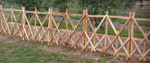 Split Wattle Panel Fence